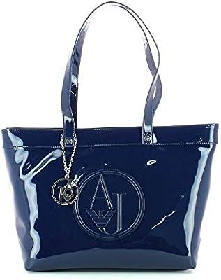 Patent Shoulder Bag Embossed Logo AJ