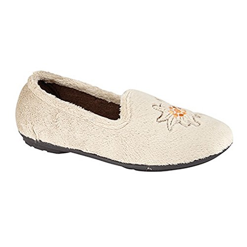 Sleepers - Tamsin - Pantofole con Ricamo - Donna Beige