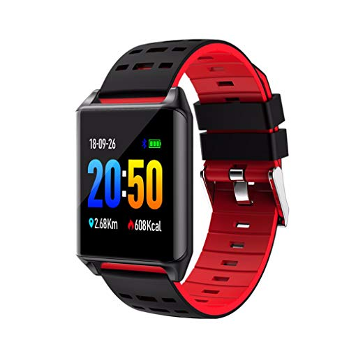 LRWEY Fitness Smart Watch, Kinder Frauen Männer Herzfrequenz Aktivität Schrittzähler Musiksteuerung Smart Armband, Für Android iOS (Keine deutsche Sprache Beschreibung)