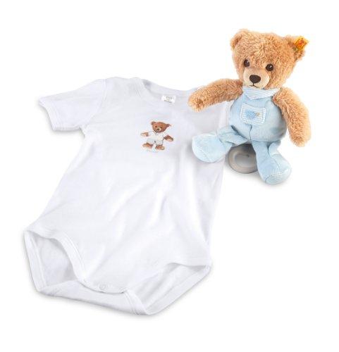 Steiff 239762 - Geschenkset Schlaf Gut Bär Spieluhr, blau