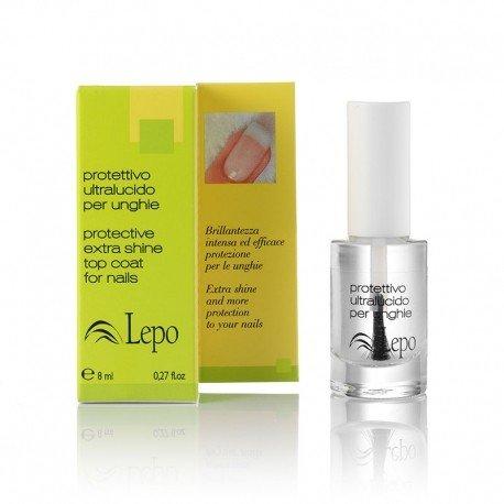 LEPO - Ultra Glossy Protective Nagellack - Intensiver Glanz und Schutz - Gegen gelbe Nägel - 8 ml