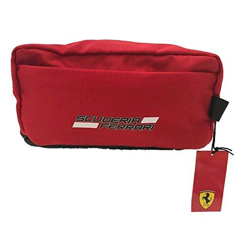 Beauty Kosmetiktasche Ferrari aus Polyester Beschichtet mit Details Gummierte