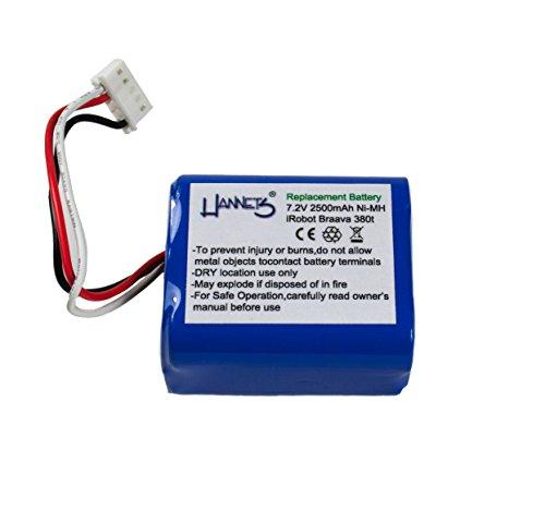 Hannets® - Batería 2500 mAh para iRobot Braava 390 - 390T