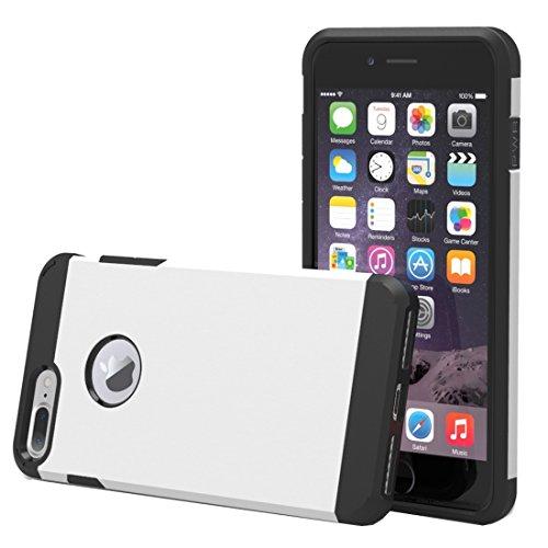 Für iPhone 7 Plus Trennbares Corselet TPU + PC Kombi-Gehäuse, Kleine Menge Empfohlen vor iPhone 7 Plus Starten DEXING ( Color : White ) White