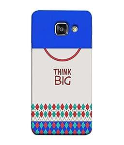 PrintVisa Designer Back Case Cover for Samsung Galaxy A3 (6) 2016 :: Samsung Galaxy A3 2016 Duos :: Samsung Galaxy A3 2016 A310F A310M A310Y :: Samsung Galaxy A3 A310 2016 Edition (Think Big lettering design :: Modern diamond design :: Nice gray color design :: Multicolor diamond design :: Think big quote design)