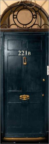 Poster Sherlock - 221B Door - preiswertes Plakat, XXL Wandposter