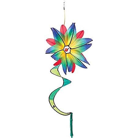HQ Windspiration 10084350 – Swinging Flower Blue Gradient, UV-beständiges und wetterfestes Windspiel – Länge: 120 cm…