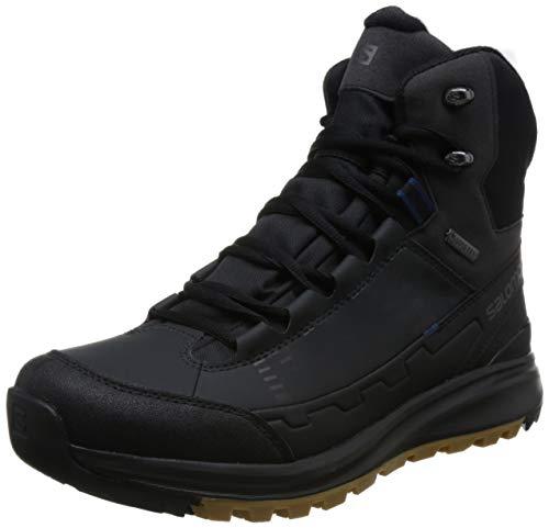 SALOMON L40473300 Kaipo Herren Gore-TEX® Winterboots aus Lederimitat Climatherm, Groesse 41 1/3, schwarz