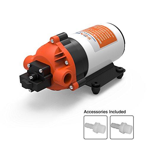 Seaflo High Druck Wasser Pumpe 12V DC 1,5gpm 80PSI Membranpumpe Automatische Schalter Transfer Wasser für Wohnwagen/Caravan/Wohnmobil-/Boot/marine (Ro Booster-pumpe)