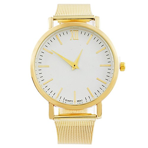 Souarts-Women-Stainless-Steel-Band-No-Number-Scale-Wrist-Quartz-Analog-Watch-23cm