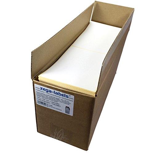 Thermo Etiketten endlos leporello gelegt - 100 x 150 mm - 2.000 Stück je Karton - permanent haftend - mit Perforation - Druckverfahren: Thermodirekt (ohne Farbband) - Versandetiketten für DPD, UPS, DHL, GLS (Industrie-thermodirekt)