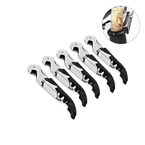 PPX 5 Stück Kellnermesser Korkenzieher Weinöffner Kellner Korkenzieher und FolienschneiderWeinöffner & Flaschenöffner für Kellner und Barkeeper- Doppelte Korkenzieher