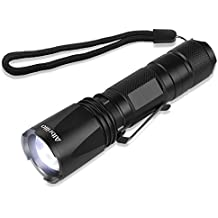Albrillo LED Torch Light Adjustable Focus with 5 Modes, Waterproof Zoomable Flashlight