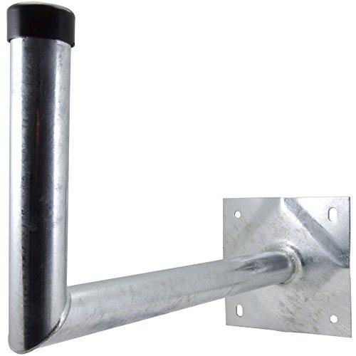 Satix Sat Wandhalter Stahl 50 cm Wandabstand für Satelliten-Schüssel, feuerverzinkt