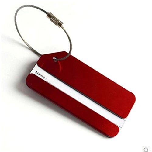GADIEMENSS tasche von accesoires tasche name für koffer namensschilder schild kofferanhänger reise 5PCS (- Brown-leder-id-halter)