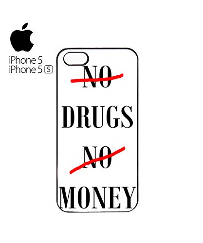 No Drugs No Money Mobile Cell Phone Case Cover iPhone 6 Plus Black Weiß