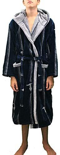 Bademantel mit Kapuze Trussardi Frame L/XL blau