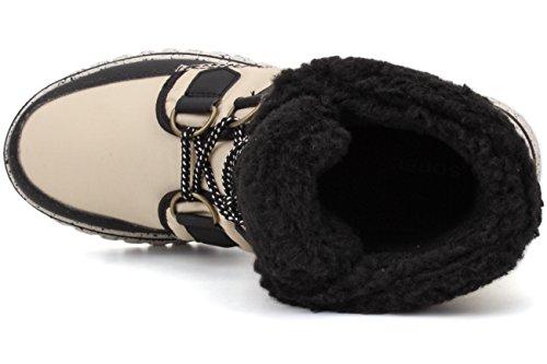 Sorel Cozy Carnival, Sneakers Hautes Femme Beige (Bisque/Black 180)