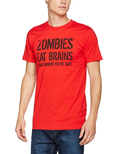 0f260c2701ec2 Crazy Dog Tshirts - Mens Zombies Eat Brains So You Re Safe Funny T Shirt