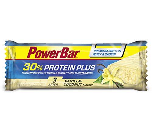 Barrita Proteica Protein Plus 30% PowerBar 15 Barritas x 55g Vainilla y Coco