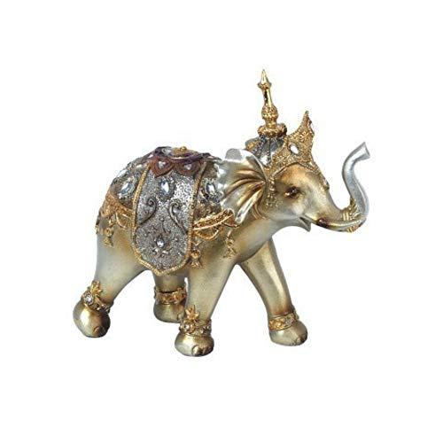 CAPRILO Figura Decorativa de Resina Elefante Étnico con Gorro Adornos y Esculturas....