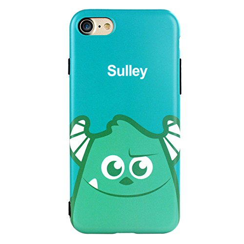 Blue Green Cute Sulley iPhone 6 Plus Sized Case Bigger Screen Funny Cartoon Print iPhone 6s Plus Cover Monsters University Mike & Sulley Theme iPhone Protector Case Girls Kids, TPU Silicone