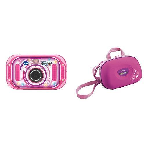 Vtech 80-163554 Kidizoom Touch 5.0 pink Kinderkamera Digitalkamera für Kinder Kinderdigitalkamera, Mehrfarbig & 80-201853 - Kidizoom Tragetasche, rosa