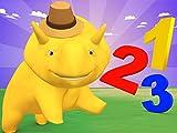 Zahlen-Detektiv spielen/über Musik/Lerne die Uhr und Minuten zu zählen/Dino und Dina lernen Zahlen mit Süßigkeiten