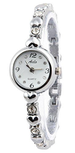 AELO Analogue Silver Girls,Women's Wristwatch