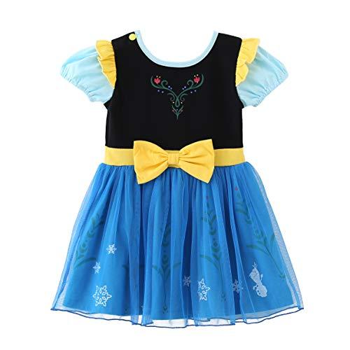Anna Kostüm Baby - Lito Angels Baby Mädchen Prinzessin Anna Kleid Kostüm Weihnachten Halloween Party Verkleidung Karneval Cosplay Kinder 18-24 Monate