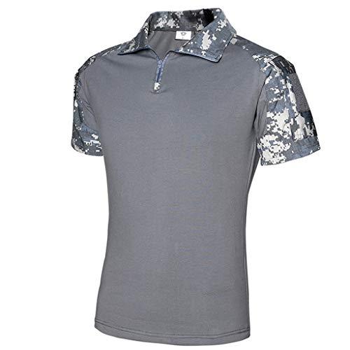 Setsail Beiläufige militärische Reine Farben-Taschen-Kurzschluss-Hülsen-Shirt-Oberseiten der Art- und WeiseHerren -