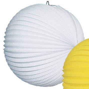 PARTY DISCOUNT ® Lampion rund, ca. Ø 23 cm, weiß PREISHIT
