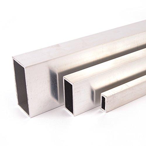 Aluminium Rechteckrohr Aluprofil Vierkantrohr ALMgSi0,5 F 22 Oberfläche blank gezogen Abmessungen 30x20x2 mm Länge 2000 mm