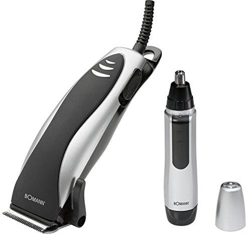 Bomann HSM 8007 - Set de máquina corta pelo, barba y corta pelos de nariz y odio