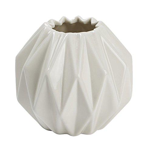 Madura 15245origamis jarrón porcelana Natural 10x 10x 10cm