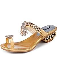 c3ce941b4221be Amazon.co.uk  Gold - Flip Flops   Thongs   Women s Shoes  Shoes   Bags