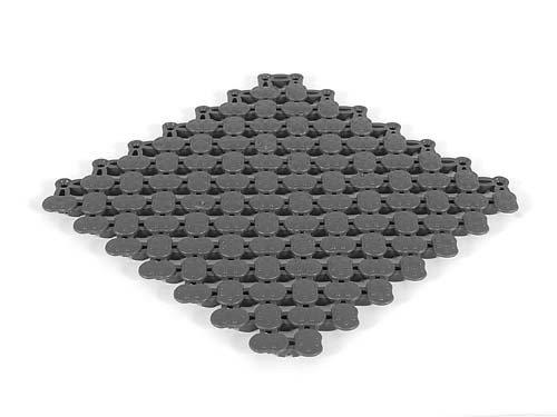 LIDO sol pour carrelage en forme de tapis de sol Idéal pour piscines et Arena Tapis de douche assortis gris