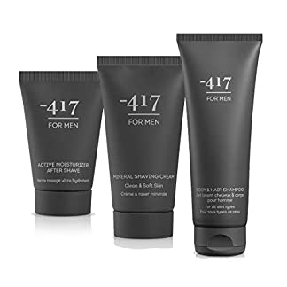 Para hombre n.º 894 por -417, 3 Piece Dead Sea Kit for Men- Includes Mineral Shaving Cream, After Shave and Body & Hair Shampoo – Suitable for All Skin Types