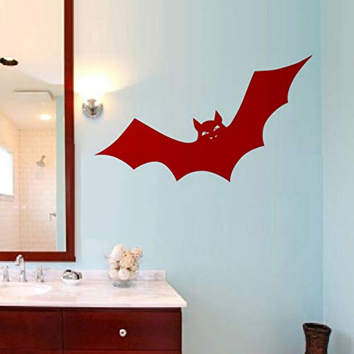 Sgbfz Halloween Aufkleber Fledermäuse Tiere Wanddekoration Kinderzimmer Wandaufkleber Ausgangsdekor Wohnzimmer, 44X76 Cm, Rot
