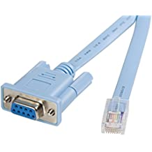 StarTech.com Cable 1,8m para Gestión de Router Enrutador Consola Cisco RJ45 a Serie Serial DB9 - Rollover - Macho a Hembra