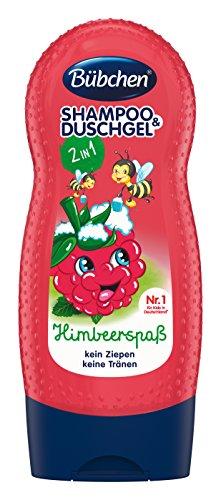 Bübchen Shampoo & Duschgel Himbeerspaß, 4er Pack (1 x 230 ml)