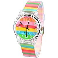 KKwell i regali di natale, adorabili figli 'orologio colore modello 3d quarzo guardare cartoon studenti orologi (multi - colore)