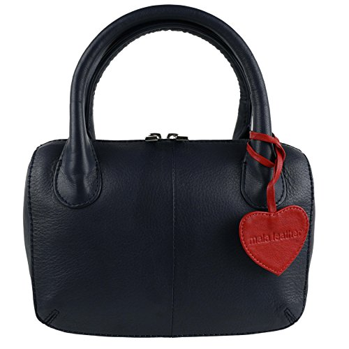 Mala Leather, Borsa a mano donna Rosso nero Blu