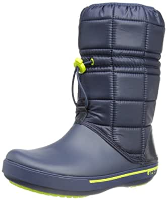 Crocs Crocbandtm II.5 Winter Boot Women, Boots femme - Bleu (Navy/Green Apple),   EU 34-35 (W5)