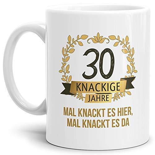 """Tassendruck Geburtstags-Tasse Knackige 30"""" Geburtstags-Geschenk Zum 30. Geburtstag/Geschenkidee/Scherzartikel/Lustig/Witzig/Spaß/Fun/Mug/Cup Qualität - 25 Jahre Erfahrung"""