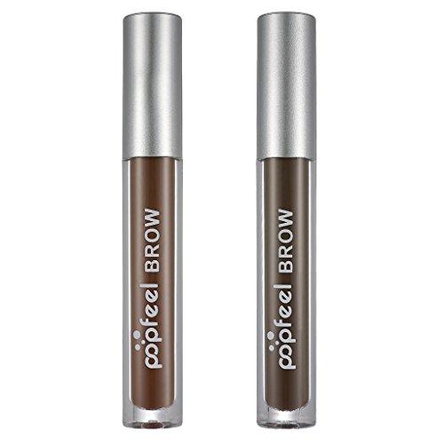 Sharplace 2pcs Gel de Tono de Cejas Tinte de Cejas de Larga Duración Aspecto Nutural