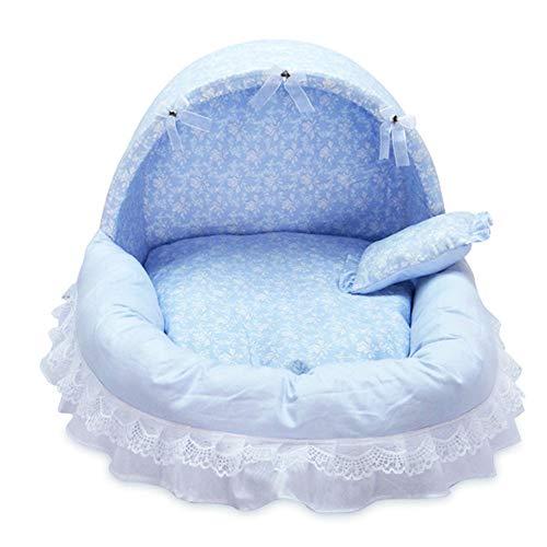 t Orthopädische Baumwolle Weiche Nest Spitze Abnehmbare Leicht zu Reinigen für Hunde Katzen um 13 £ (Blau) ()