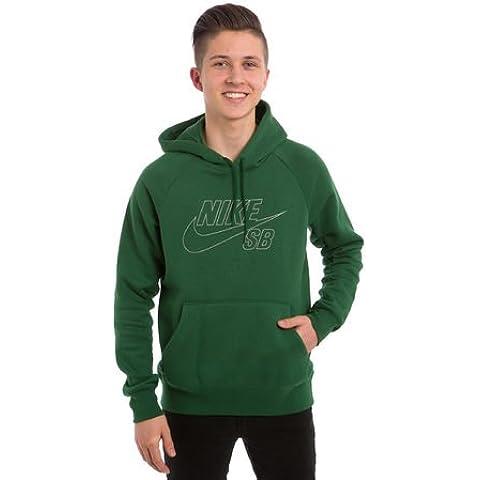 Nike SB–Felpa con cappuccio Icon riflettente, colore: verde, dimensioni: 2x l