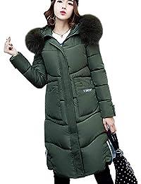 Daunenmantel Damen Mit Fellkapuze Winter Warme Lang Geschenke Für Frauen  Winter 4b2136571f
