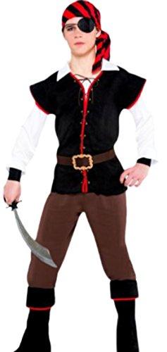 Kostüm Fünf Johnny - Halloweenia - Jungen Piraten Kostüm, Halloween, 5-teilig, 14-15 Jahre, Mehrfarbig